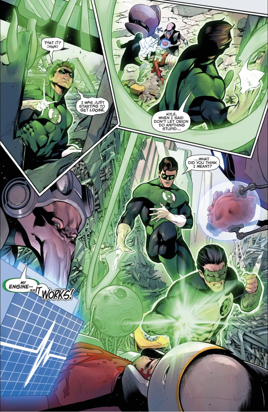 Kyle Rayner Creates An Artificial Heart For Orion