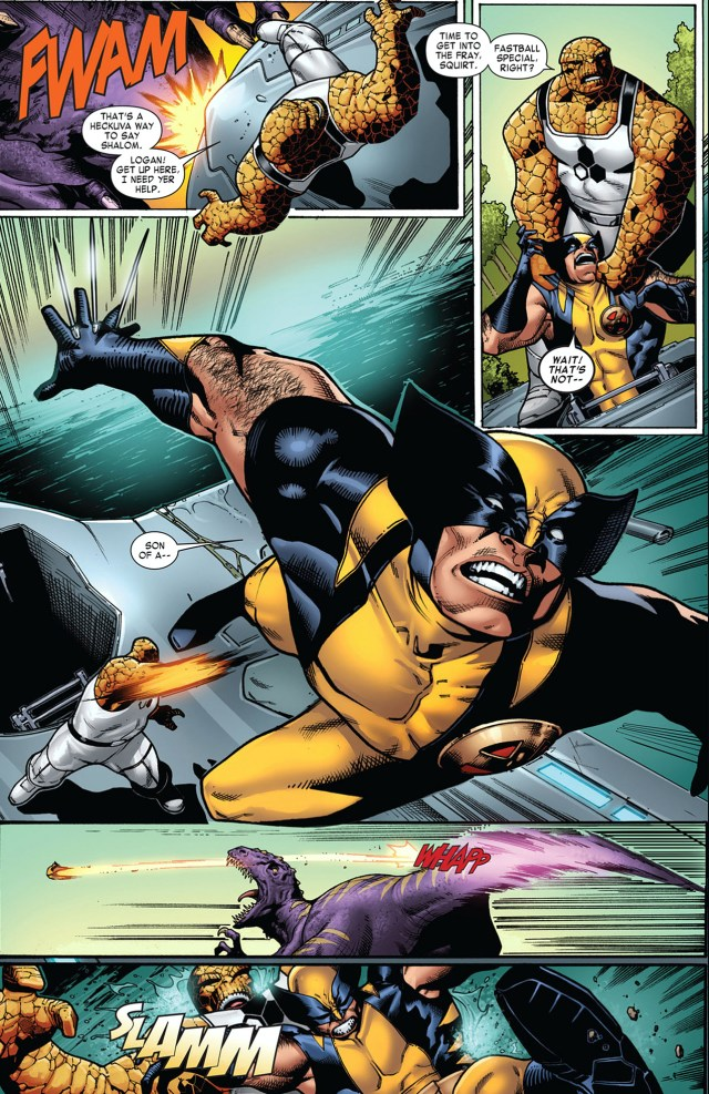 The Thing And Wolverine Fastball Special
