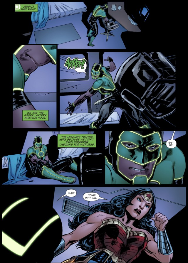 Wonder Woman Trains With The Green Lanterns