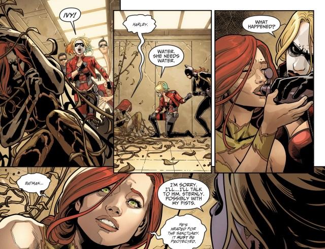 Harley Quinn Kisses Poison Ivy (Injustice II)
