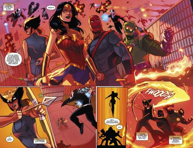 Justice League And Power Rangers VS Brainiac's Drones