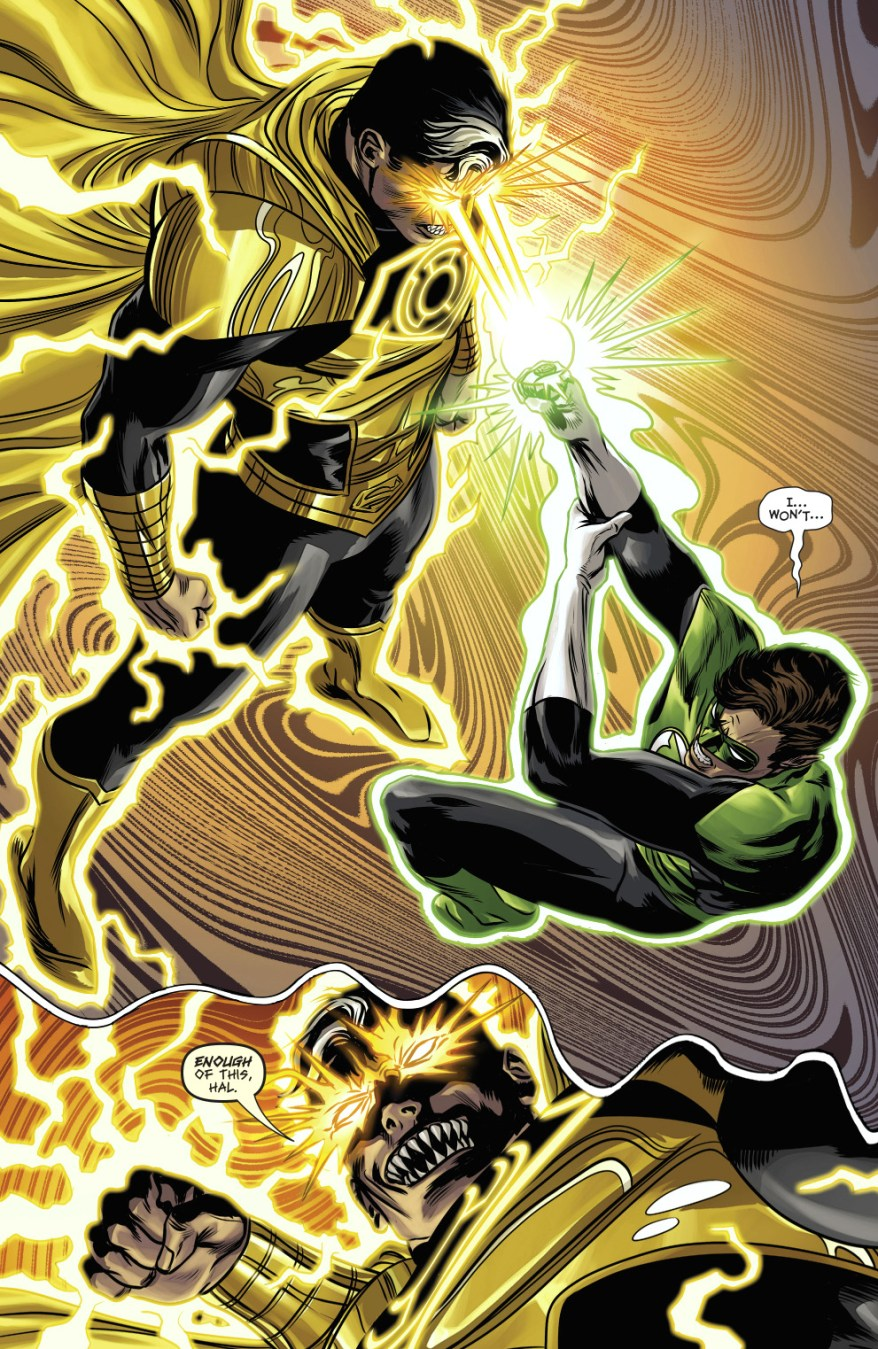 Green Lantern Hal Jordan VS Parallax-Superman