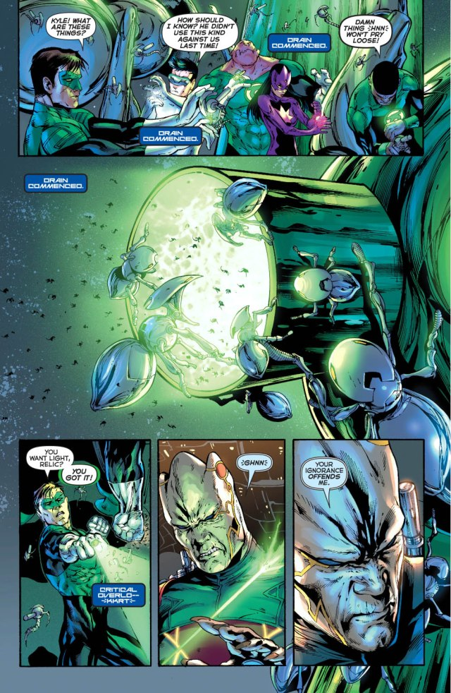 Hal Jordan's First Meeting With Relic