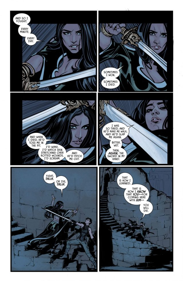 Catwoman And Talia al Ghul's Childhoods