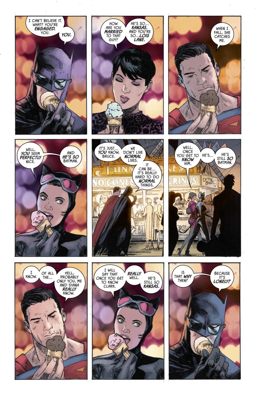 Superman And Batman In A County Fair