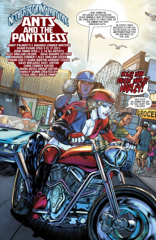 Harley Quinn In A Harley