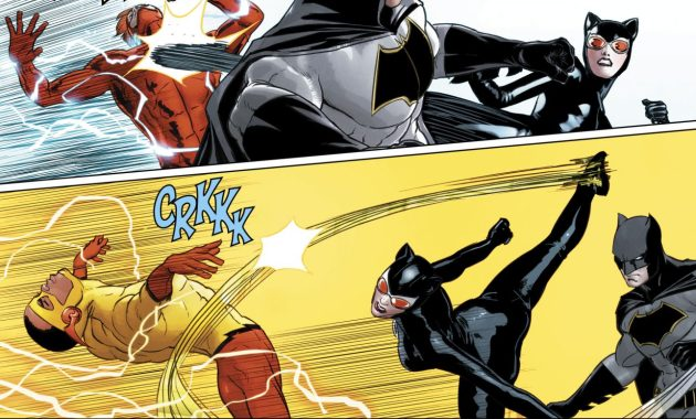Catwoman Takes Down 3 Flashes (Rebirth)