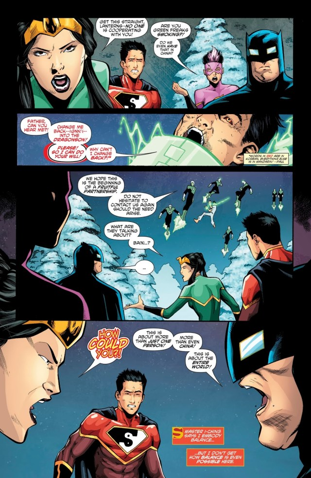 Justice League Of China VS Lantern Corps Of China
