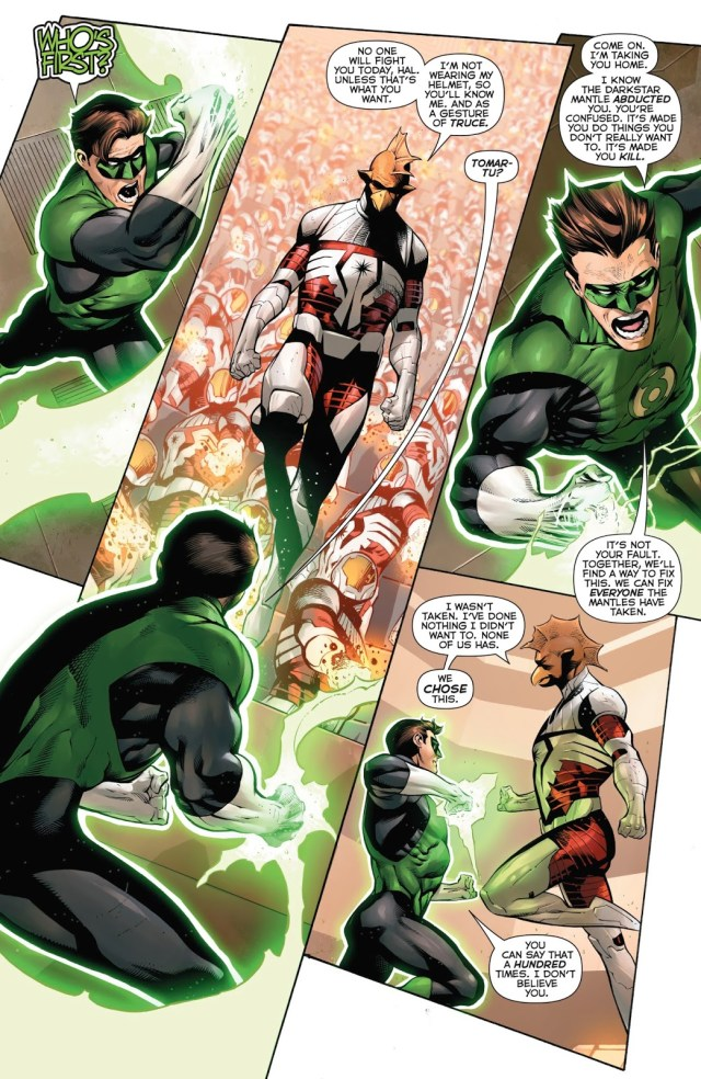 Darkstar Tomar-Tu Tries To Recruit Hal Jordan