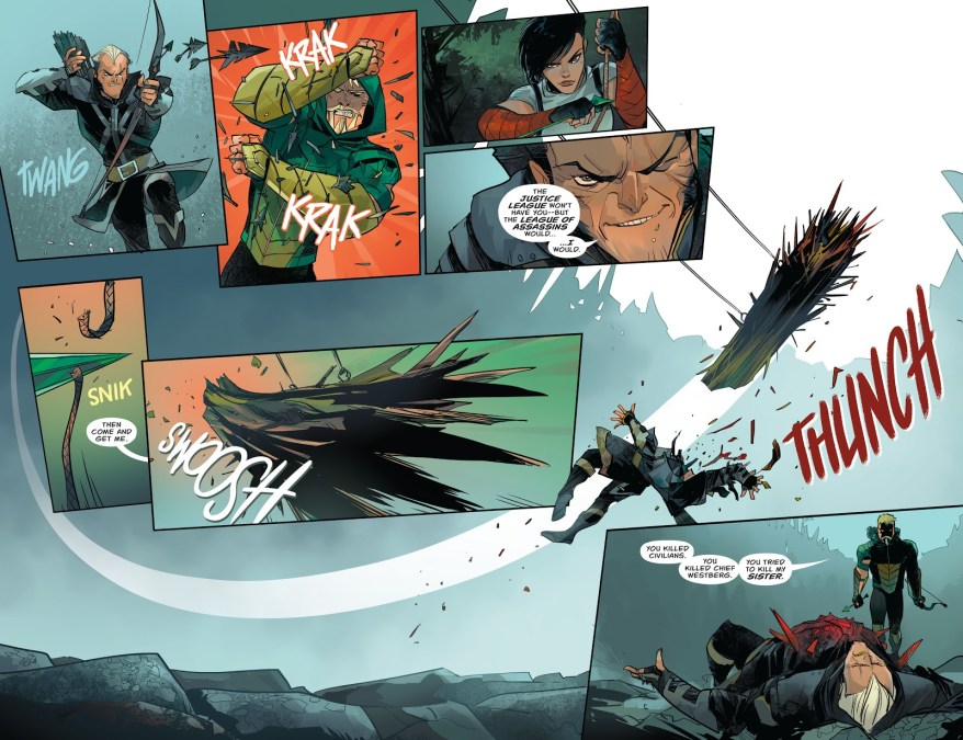 Green Arrow Captures Dark Archer (Rebirth)