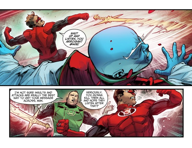 Hal Jordan Cuts Off His Own Finger (Injustice II)