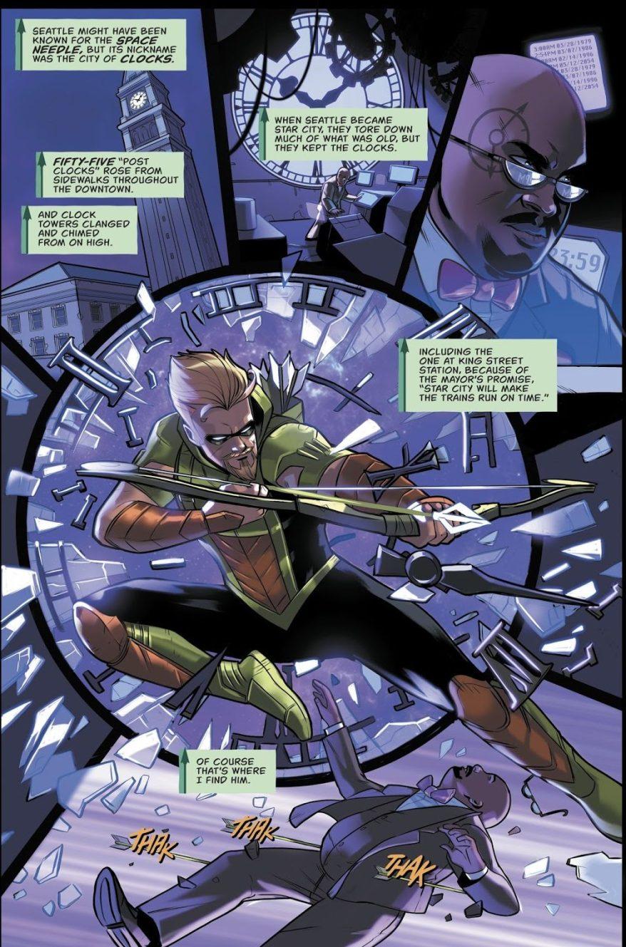 Green Arrow VS The Clock King (Rebirth)