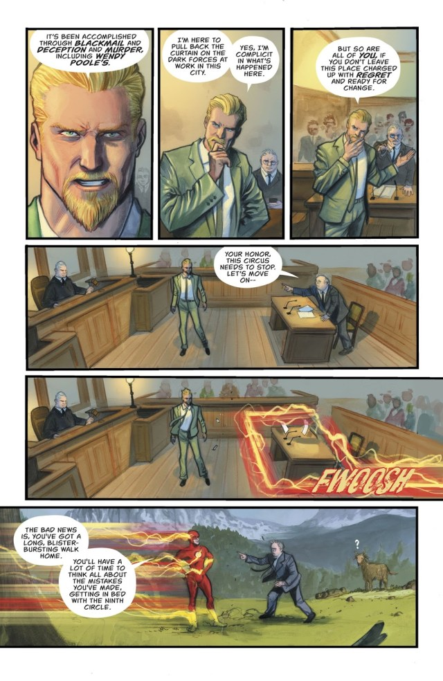 Oliver Queen Acting As His Own Lawyer (Rebirth)