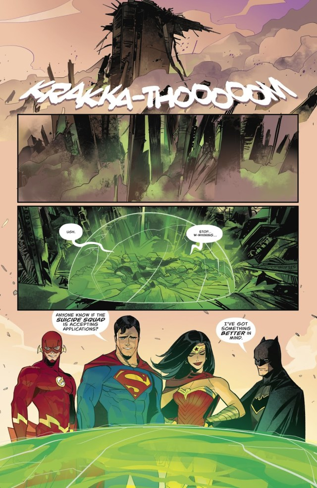 The Justice League Rescues Green Arrow (Rebirth)