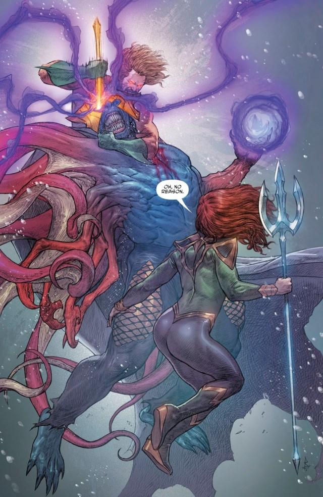Aquaman And Mera VS Corum Rath
