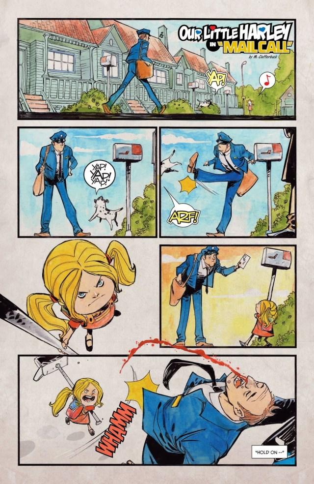 Little Harley Quinn VS A Mail Man