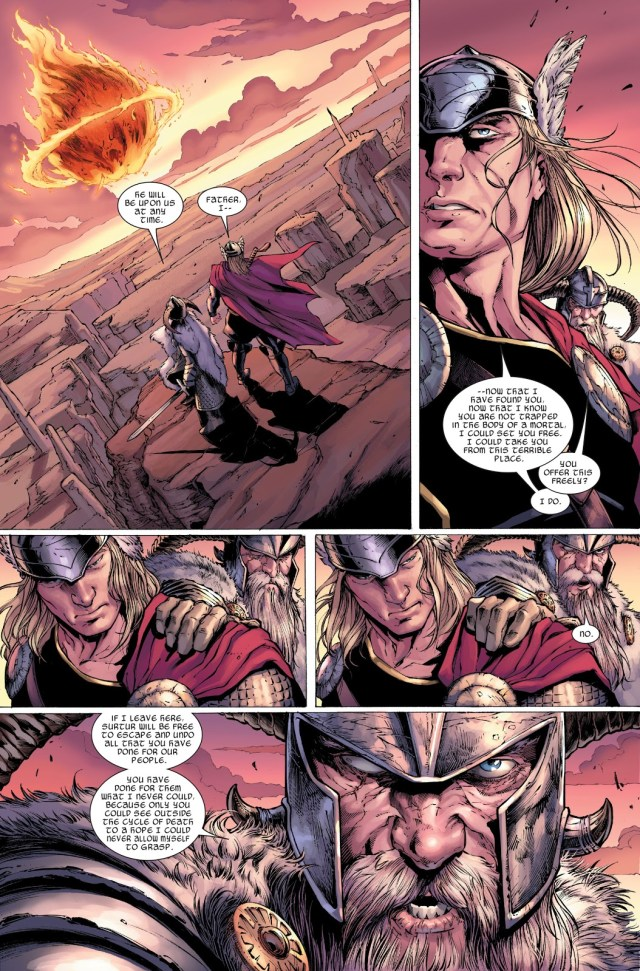 Thor And Odin VS Surthur