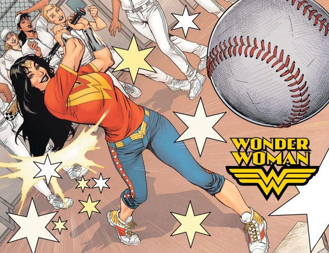 Wonder Woman Playing Baseball (Earth One)