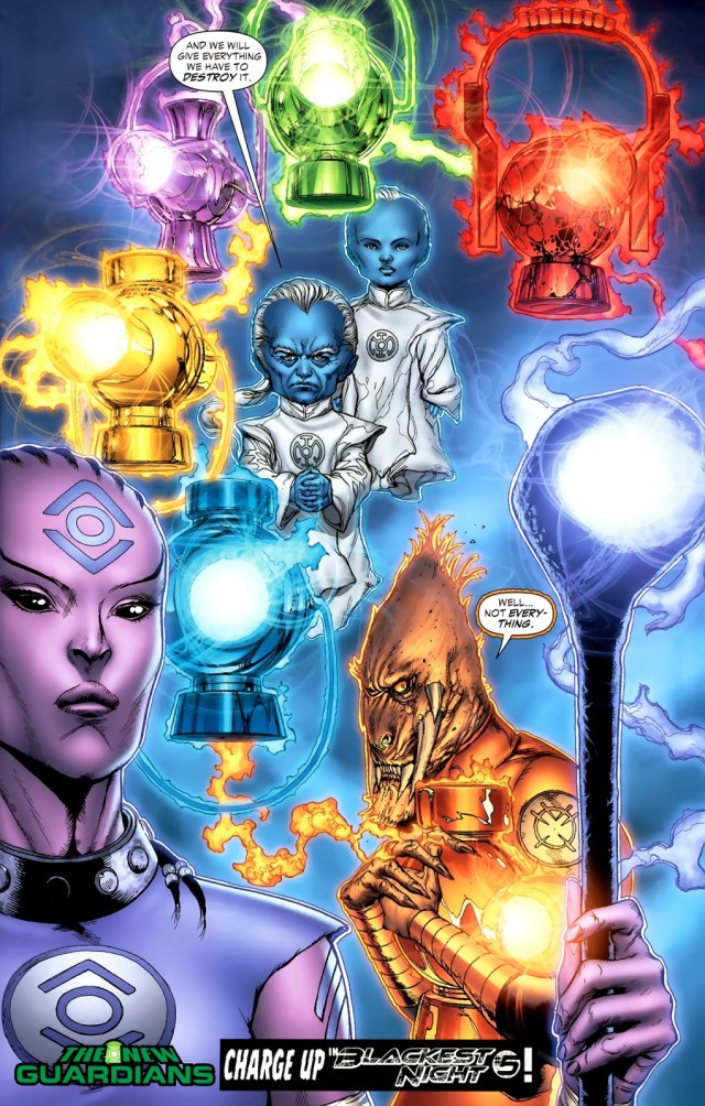 Ganthet, Sayd, Indigo-1 And Larfleeze