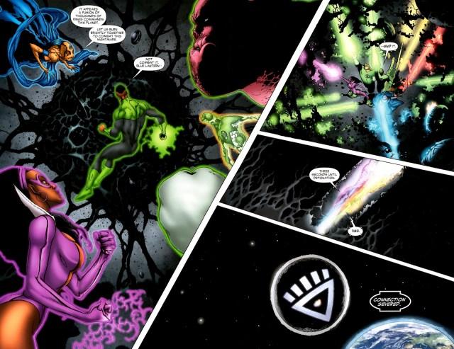 Lanterns Destroy Black Lantern Xanshi