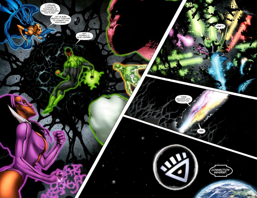 Lanterns Destroy Black Lantern Xanshi