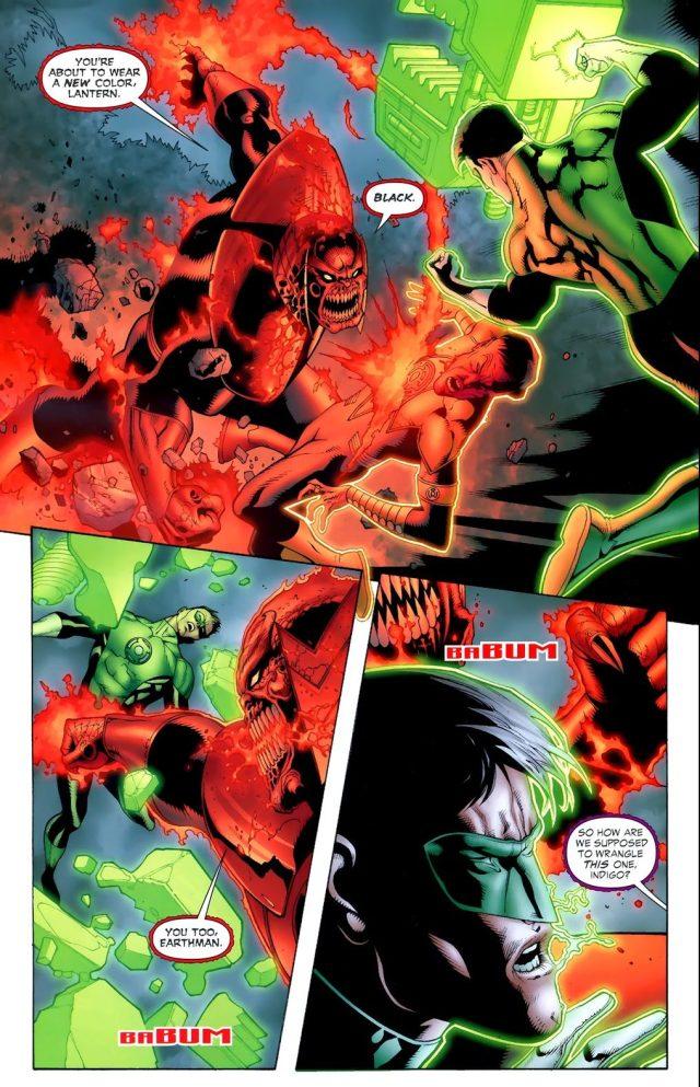 Red Lantern Atrocitus Takes On 5 Color Lanterns