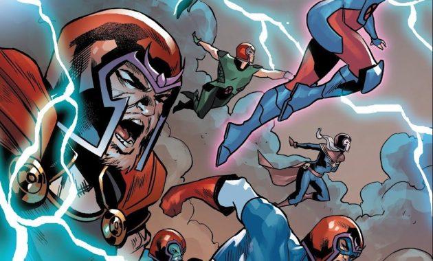 The X-Men And Avengers In Magneto Helmets