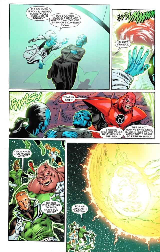 Green Lantern Mogo's Funeral Pyre