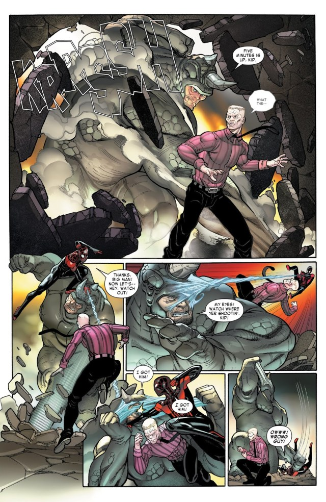 Spider-Man Miles Morales And The Rhino VS Tombstone