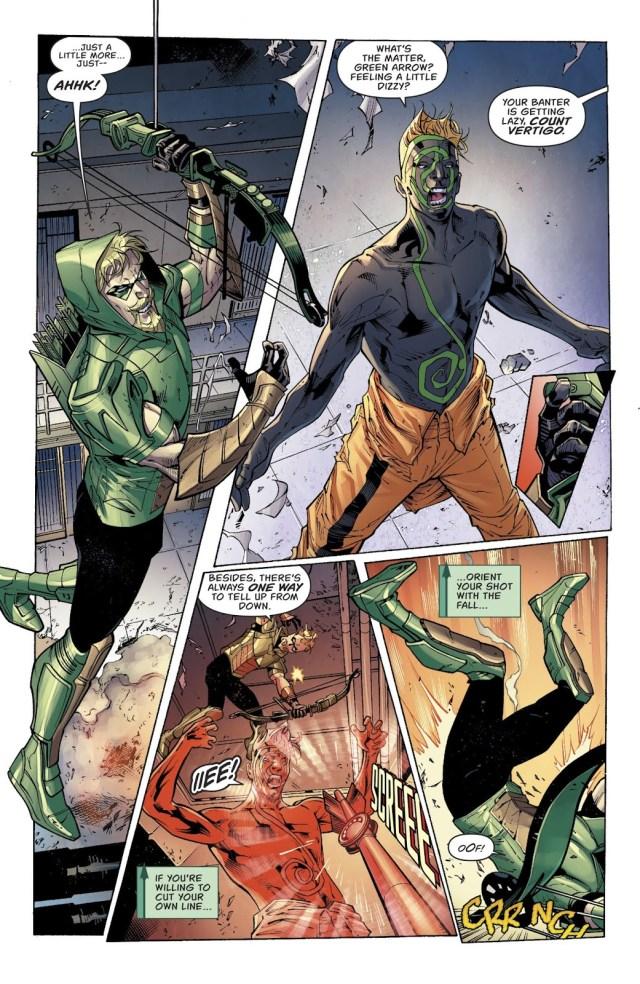 Green Arrow Puts Down A Prison Riot