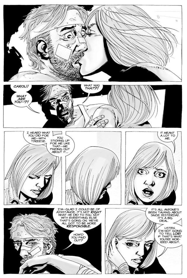 Carol Kisses Rick Grimes (The Walking Dead)