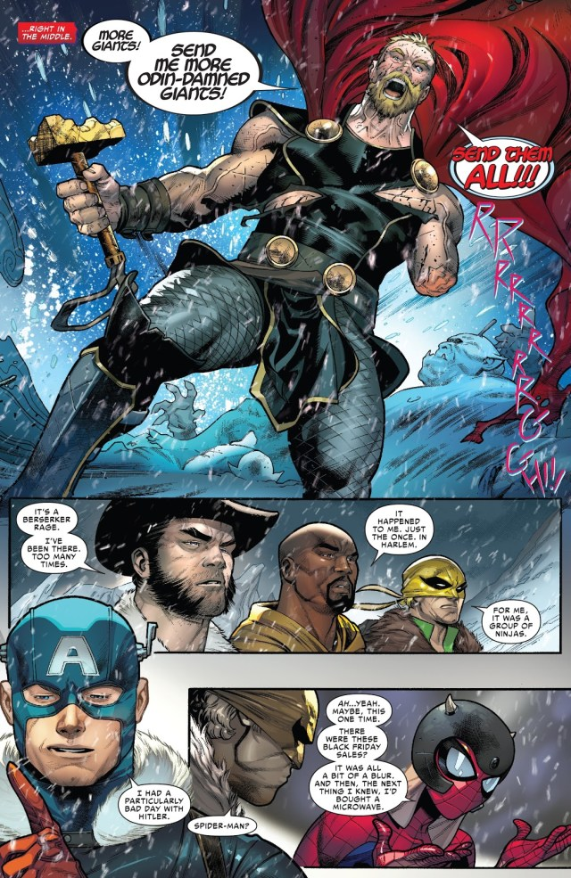 The Avengers Rescue Thor From Jotunheim