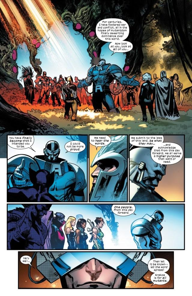 Professor X Welcomes Apocalypse To Krakoa