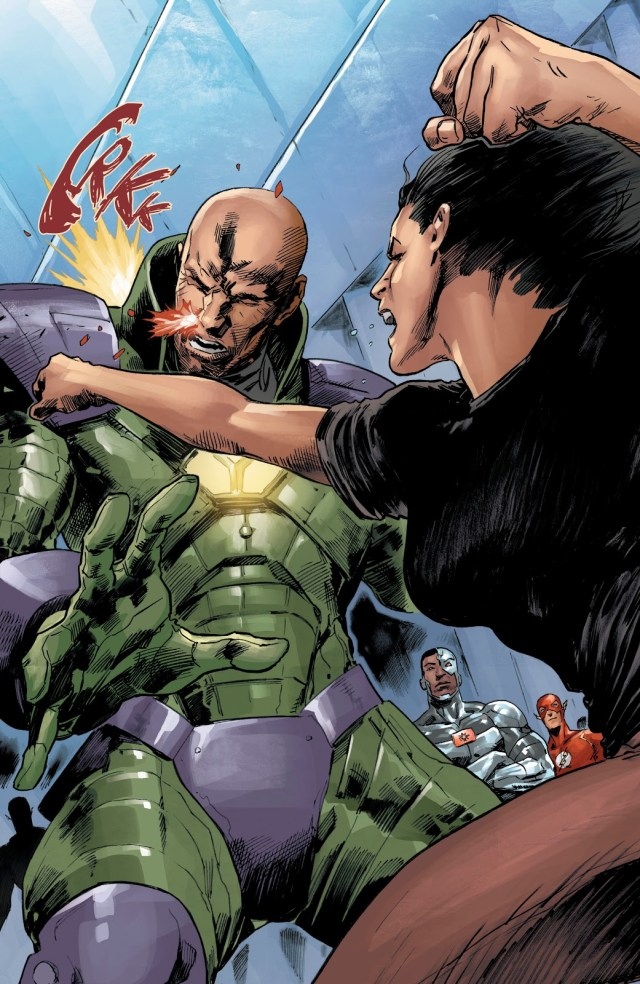 Lois Lane Punches Lex Luthor (DCeased)
