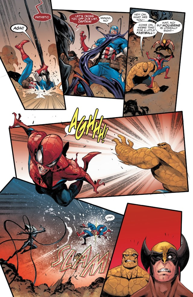 The Things And Spider-Man's Fastball Special