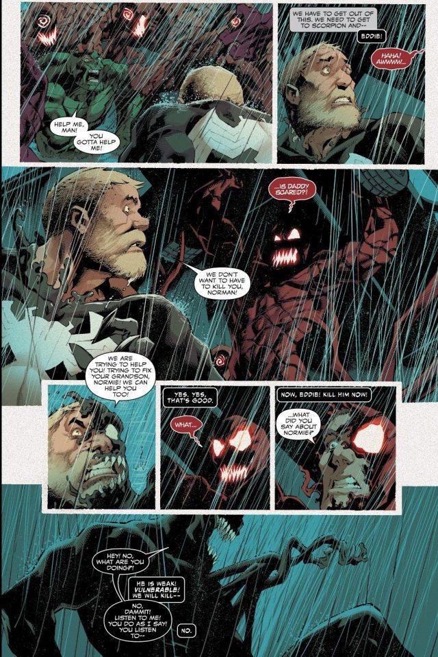 Venom Tries To Kill Norman Osborn Carnage (Absolute Carnage)