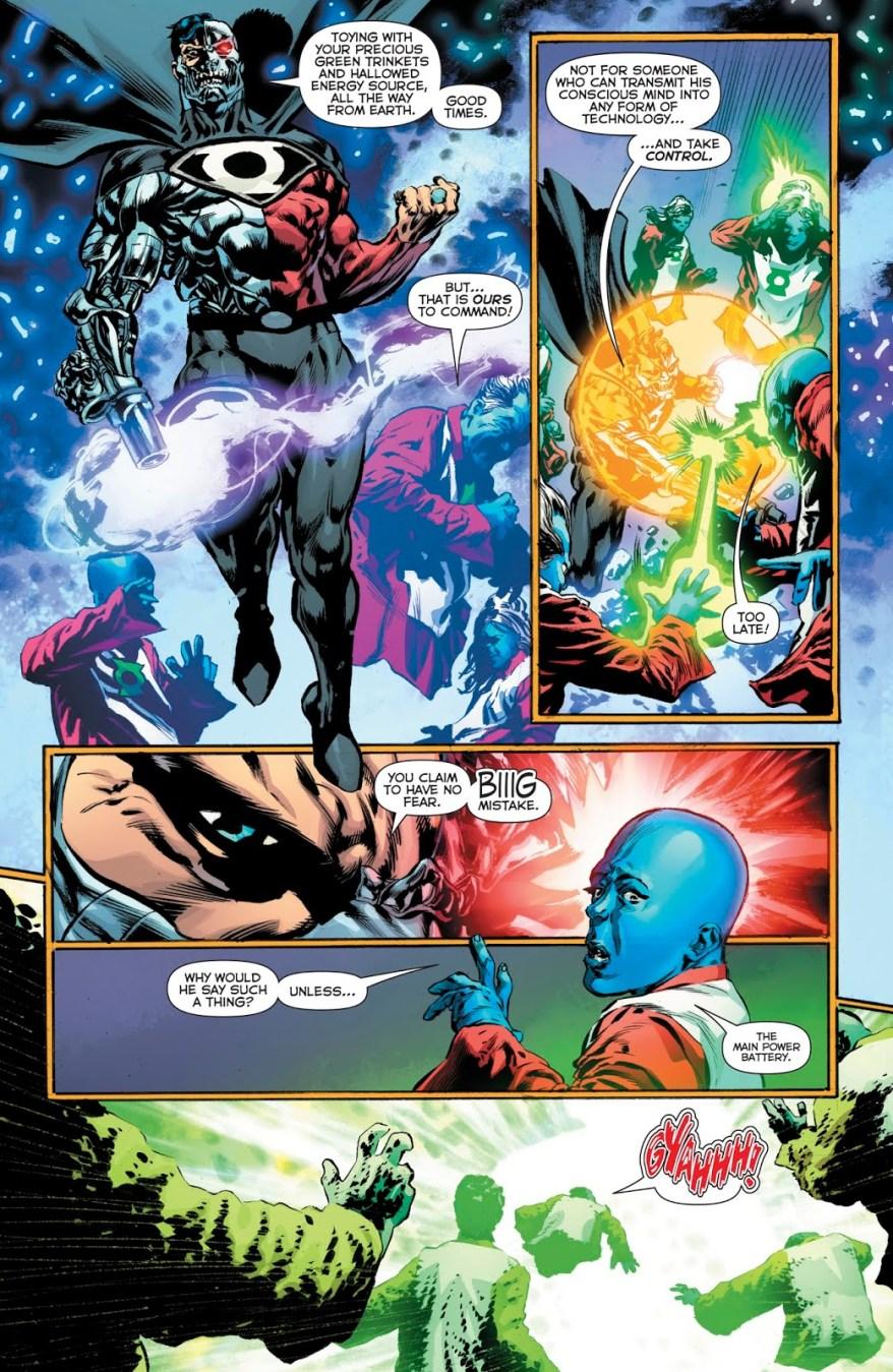 Cyborg-Superman Uses The Phantom Ring Against The Guardians