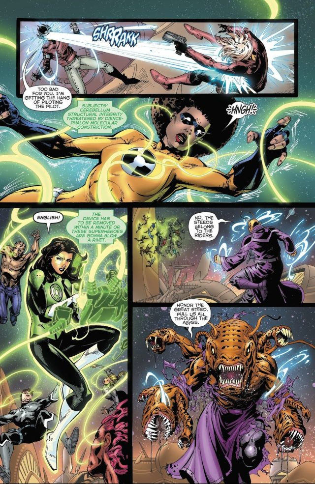 Green Lantern Jessica Cruz Performs Brain Surgery