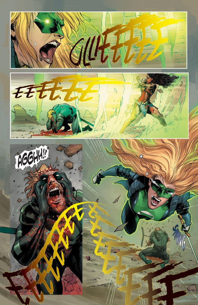 Zombie Wonder Woman Infects Green Arrow (DCeased)