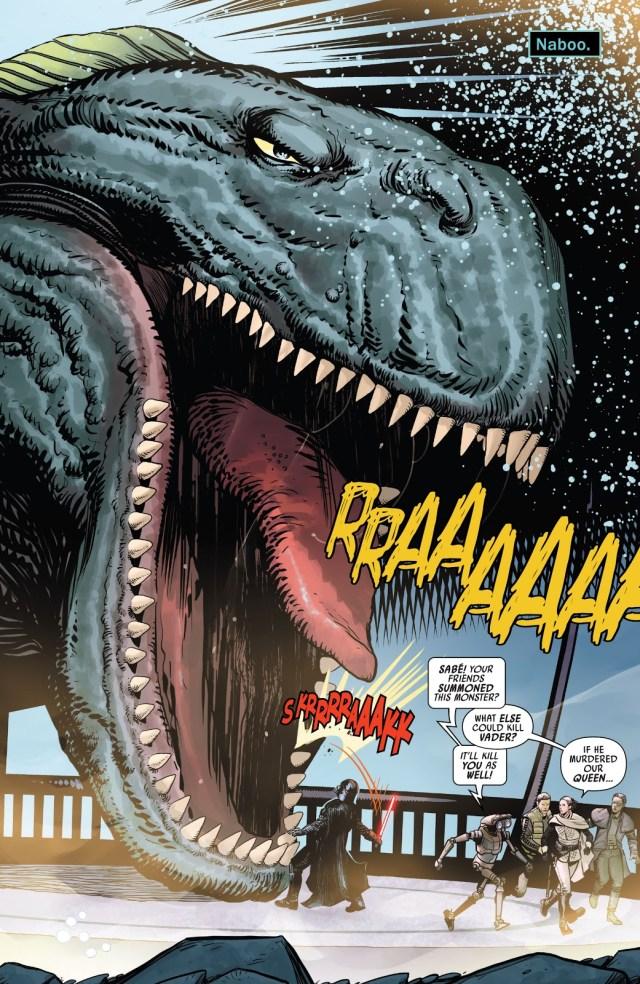 Darth Vader Kills A Sando Aqua Monster