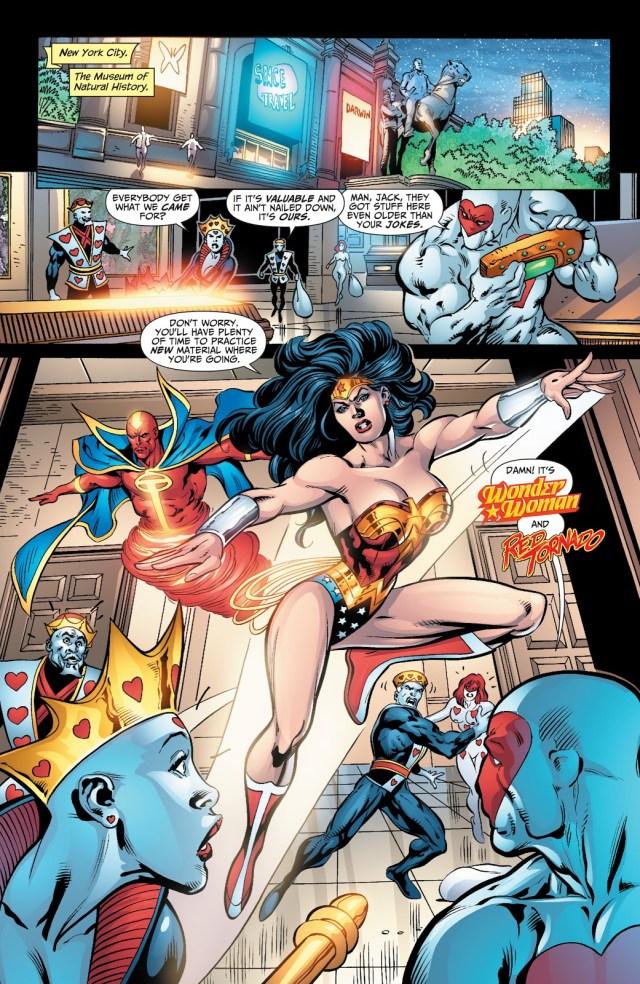 Wonder Woman And Red Tornado VS Royal Flush Gang