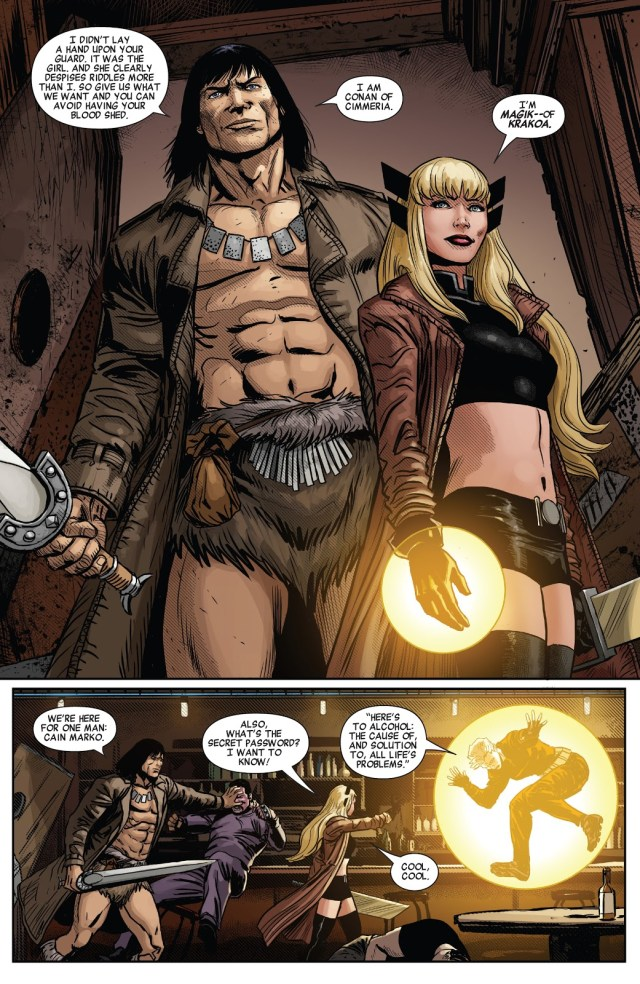 Conan The Barbarian And Magik (Savage Avengers #14)