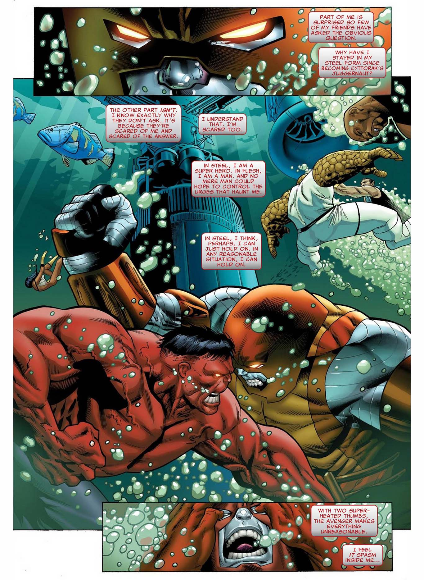 Red Hulk Makes Juggerlossus Angry Comicnewbies