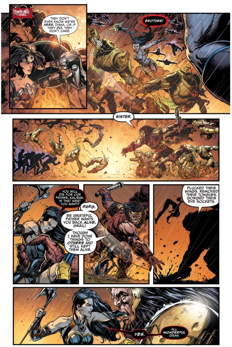 Grail VS Kalibak Comicnewbies