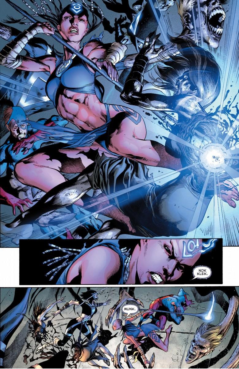 Indigo 1 And 2 VS Black Lantern Justice League Comicnewbies
