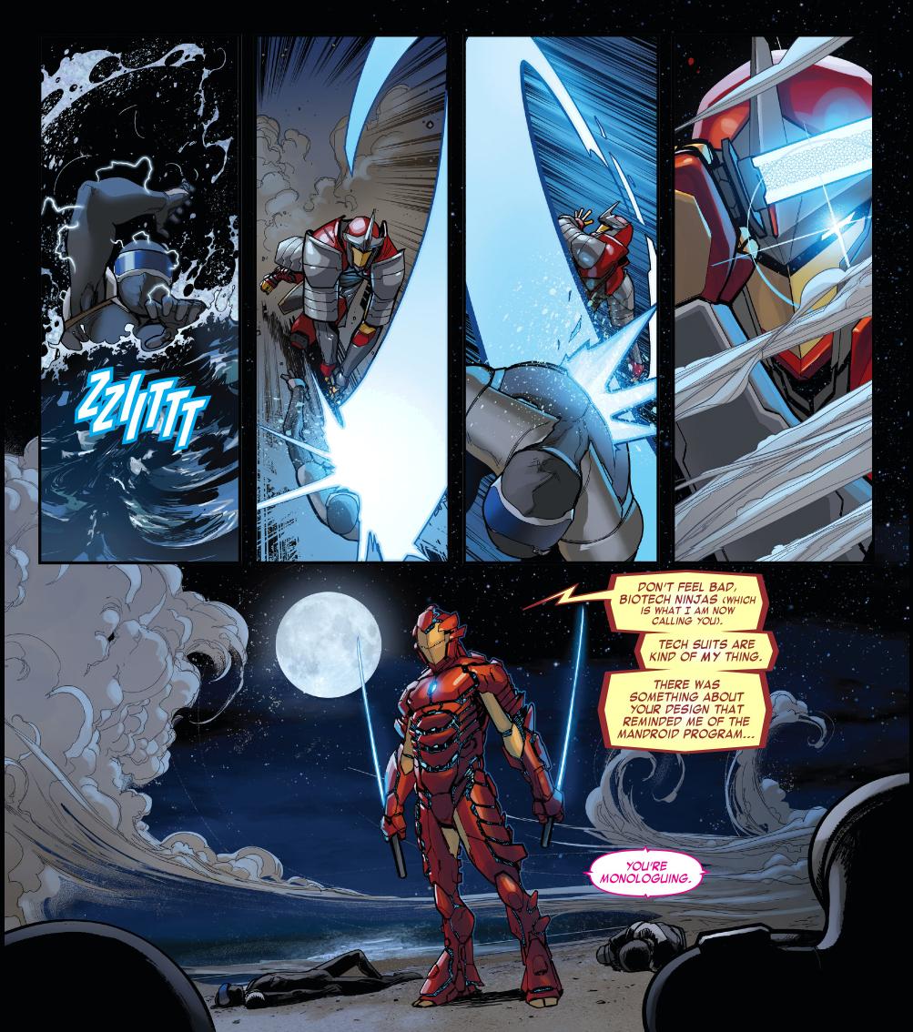 Samurai Iron Man VS Cyber Ninjas Comicnewbies