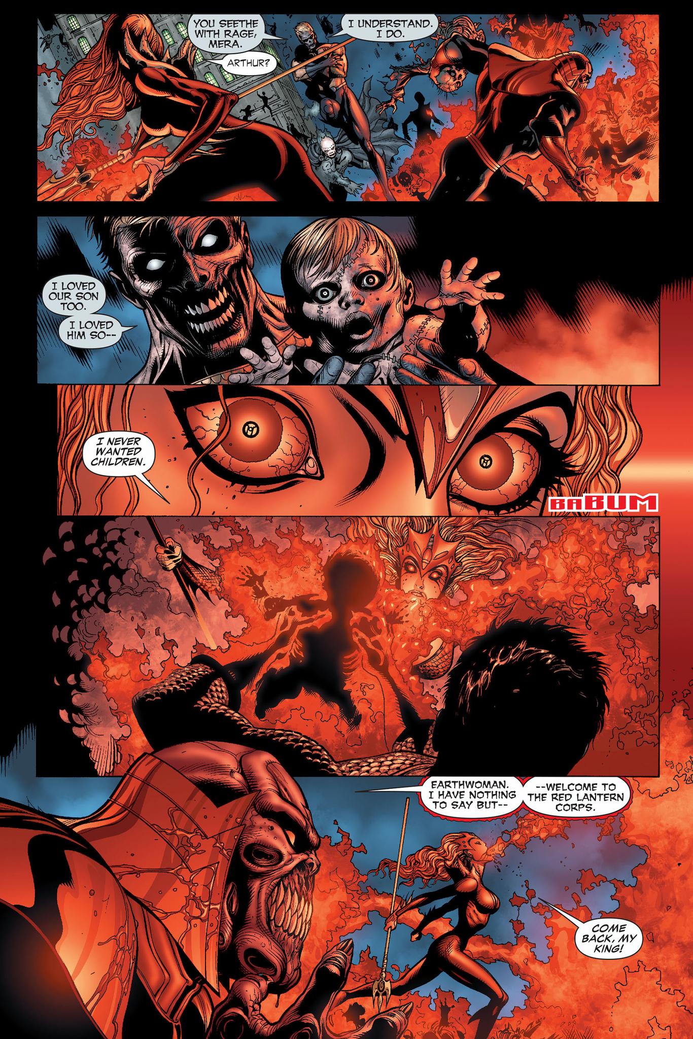Red Lantern Mera VS Black Lantern Aquaman Comicnewbies