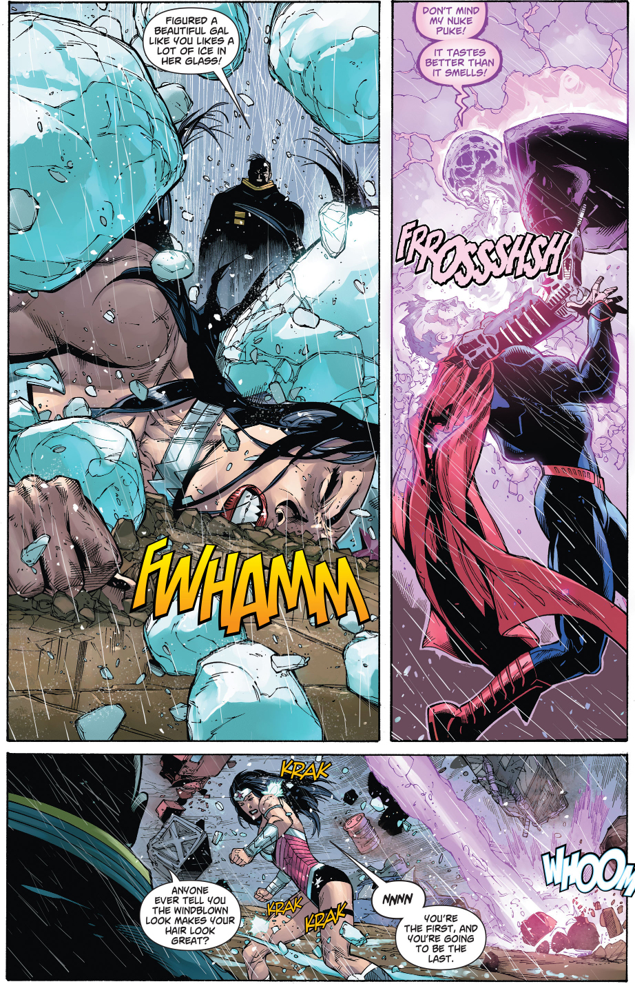 Superman And Wonder Woman VS Atomic Skull And Major