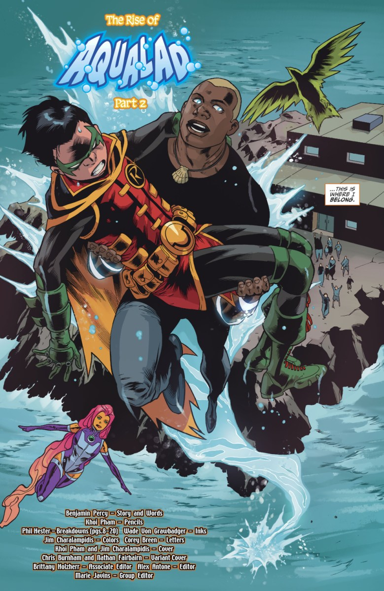 How Aqualad Joined The Teen Titans Rebirth Comicnewbies