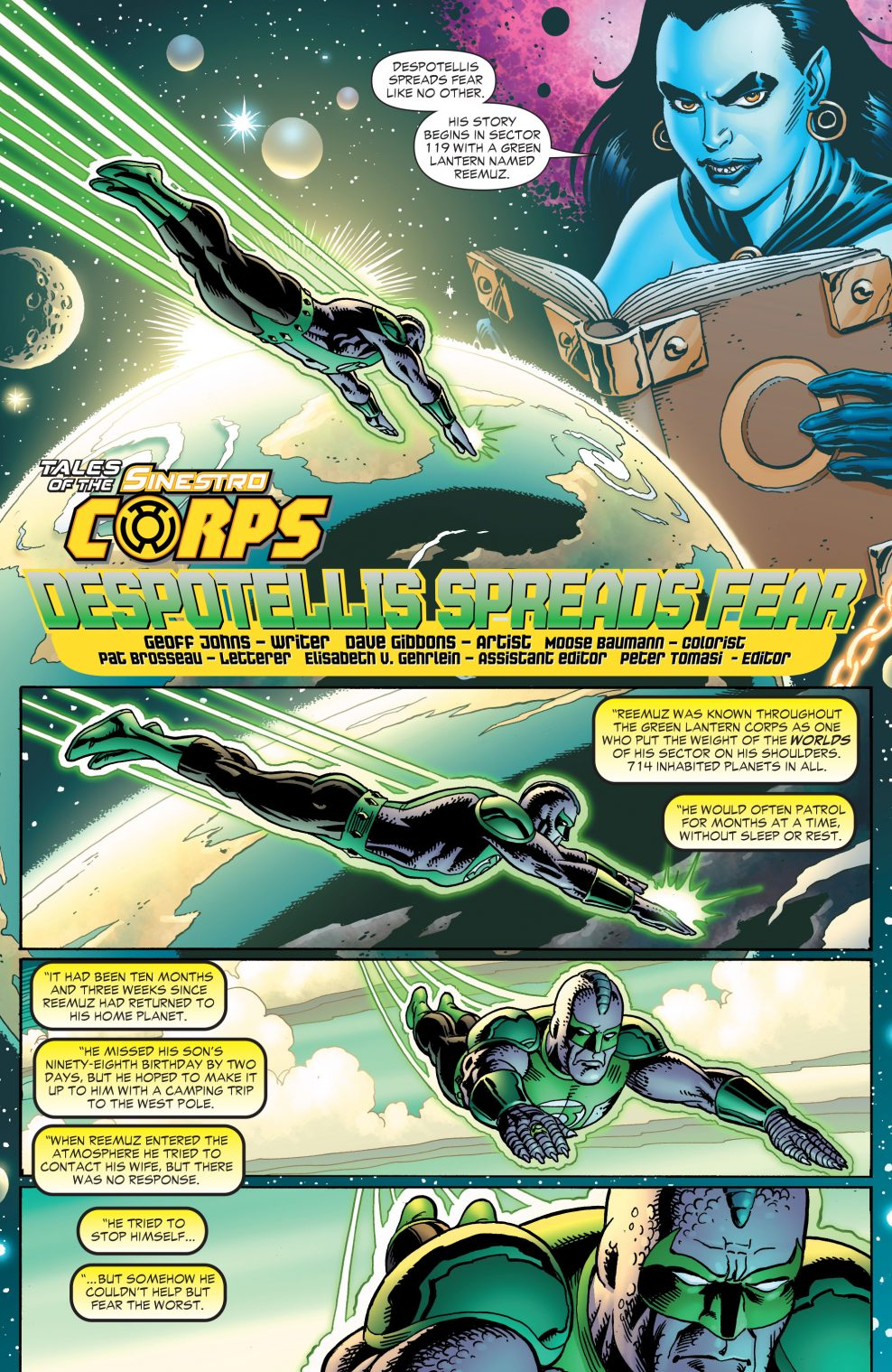 The Tale Of Sinestro Corps Member Despotellis Comicnewbies